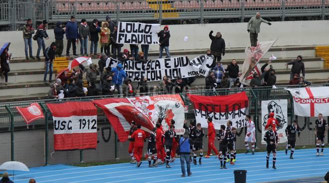 Grosseto-San Marco Avenza  omaggio tifose