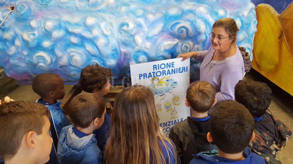 classe in visita al rione Pratoranieri 2018
