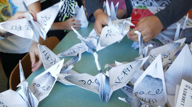 Gru per la pace origami