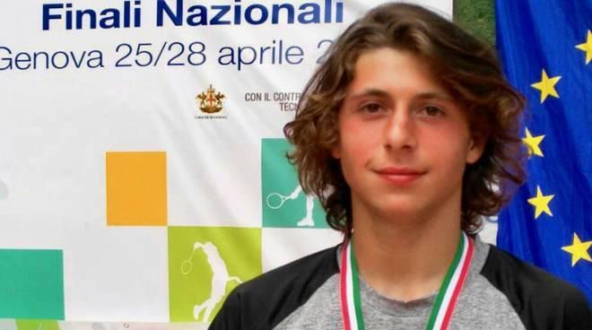 Alessandro Parigi vice campione italiano 2018 studenteschi tennis
