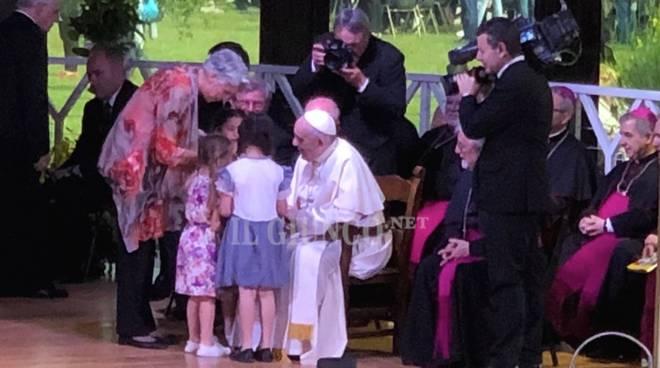 Papa Francesco a Nomadelfia