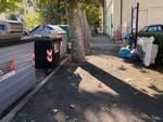 rifiuti via Sauro luglio 2018