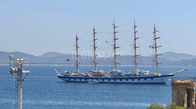 Royal Clipper e Le Ponant all'Argentario