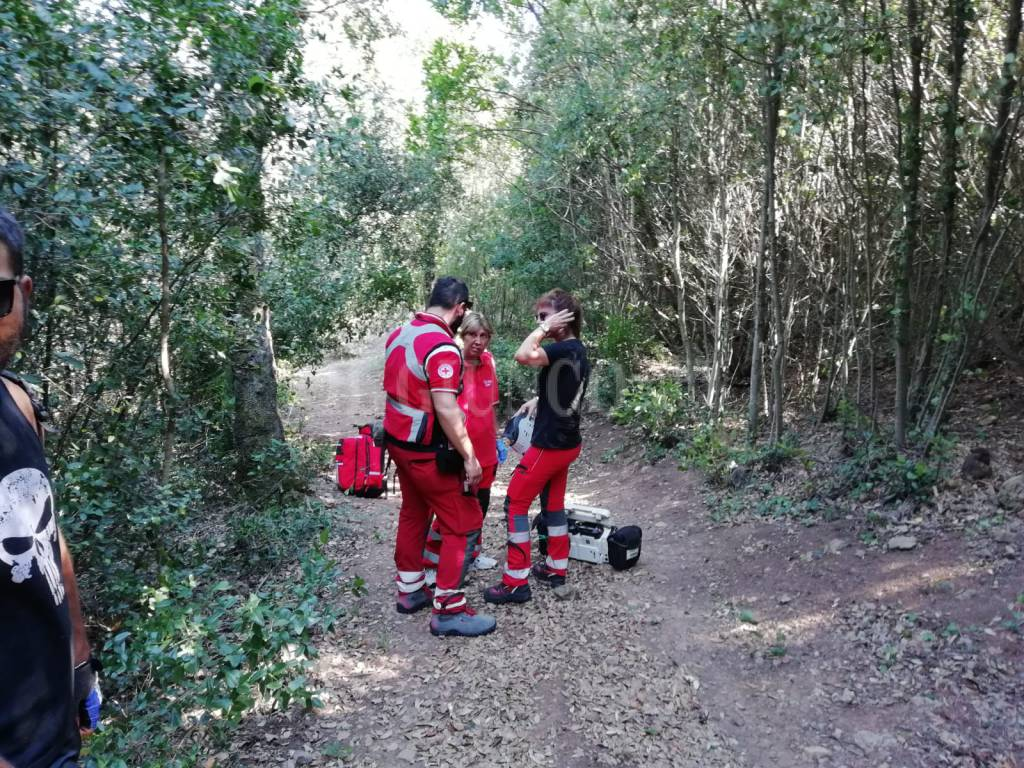 incidente ciclista monte ag18