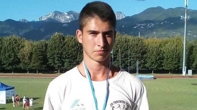 Matteo Pittau lanciatore Atletica Grosseto
