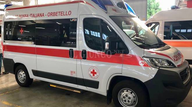 nuova ambulanza cri orbetello