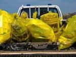 pulizia spiaggia progetto Pelagos plastic free