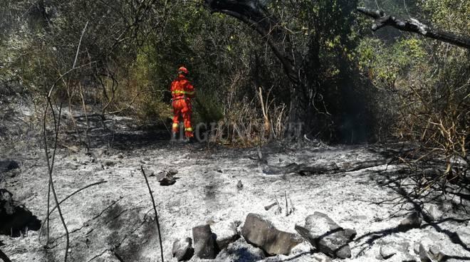 Incendio sterpaglie scarlino sett 18 Vab