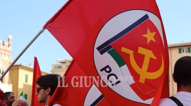 Manifestazione antifascista Anpi 8 settembre 2018 Pci Partito comunista italiano
