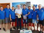 Miguel Lorca e la sua squadra in visita a Castiglione