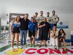 Podio Triathlon Marina 2018 (foto Elia Caprini)