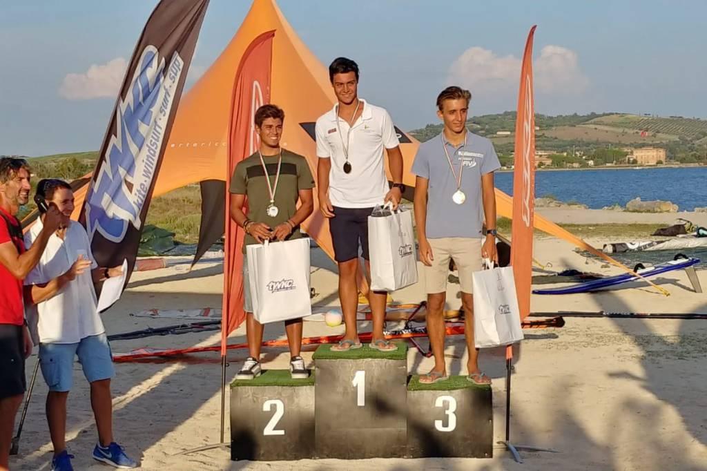 Podio Under 20 uomini Slalom Firerace 2018