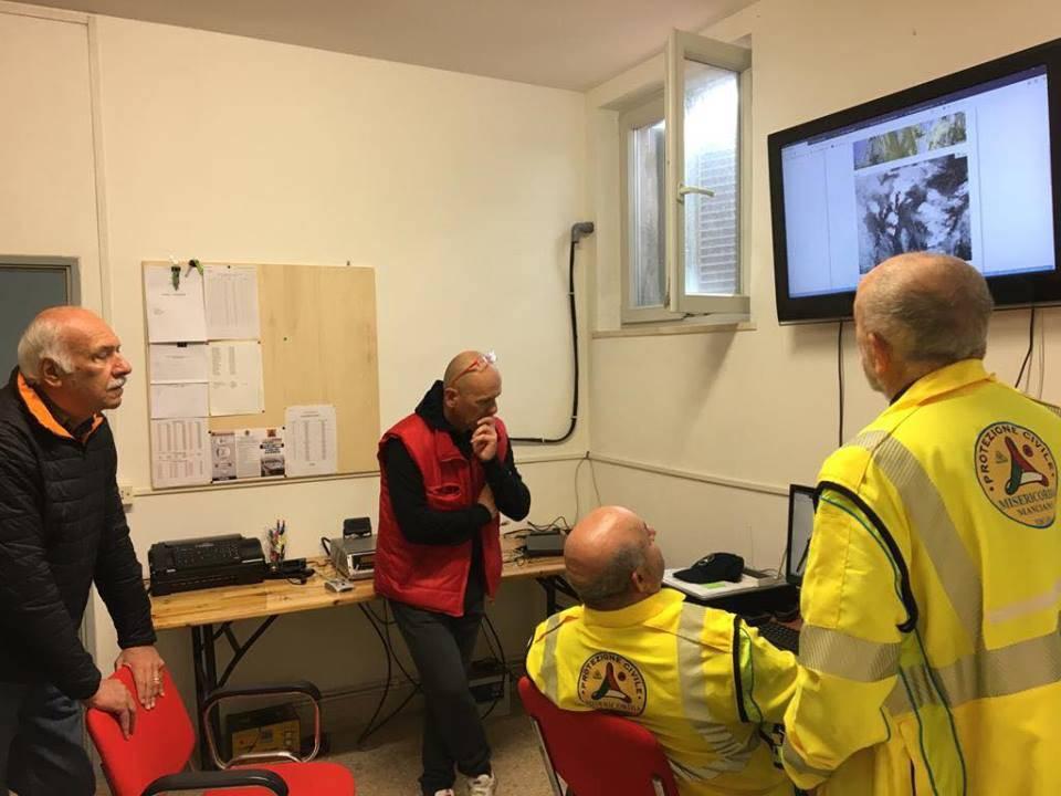 Sala operativa protezione civile Manciano