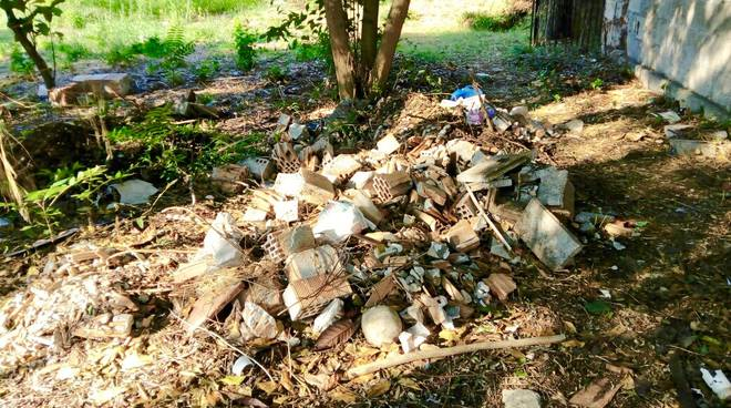 Giardino ex Ilva rifiuti