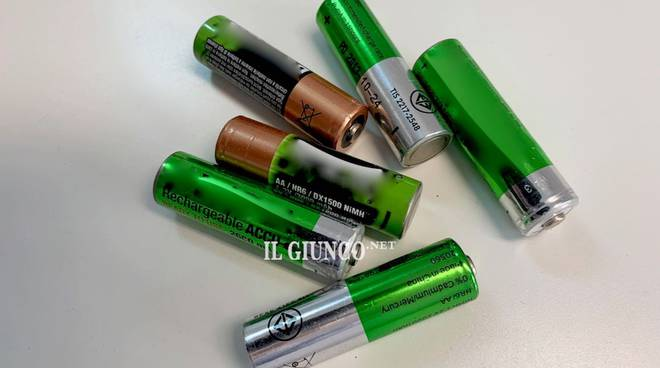 Pile rifiuti batterie