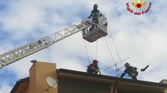 Vigili fuoco tetto Gr