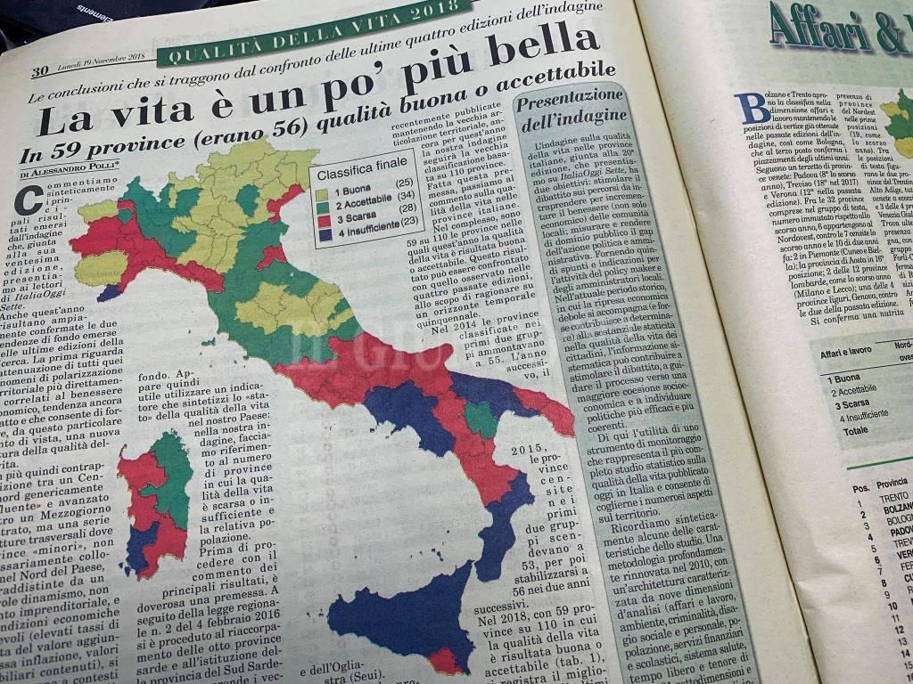 Italia Oggi classifica 2018