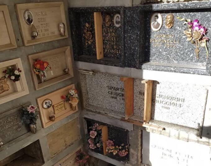 degrado al cimitero