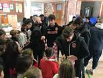 Grosseto calcio visita la scuola di via Rovetta
