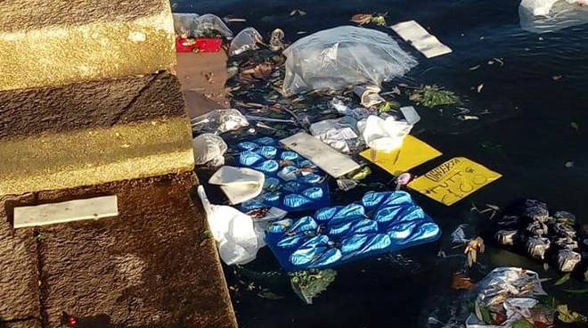 rifiuti in Laguna