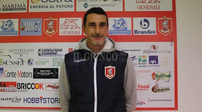 Sebastiano Miano mister Us Grosseto dic 2018