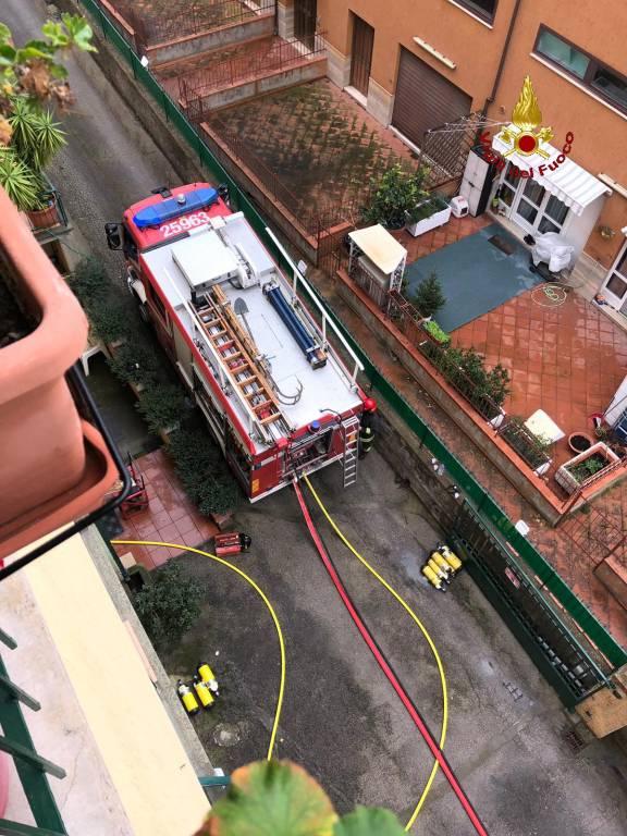 incendio appartamento s. stefano Gala
