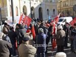 Manifestazione contro Governo sindacati pensionati