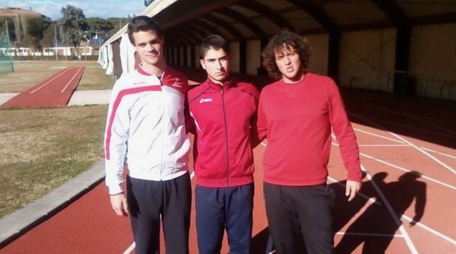 Atletica Grosseto - lanciatori Bigazzi, Pittau e Macchione