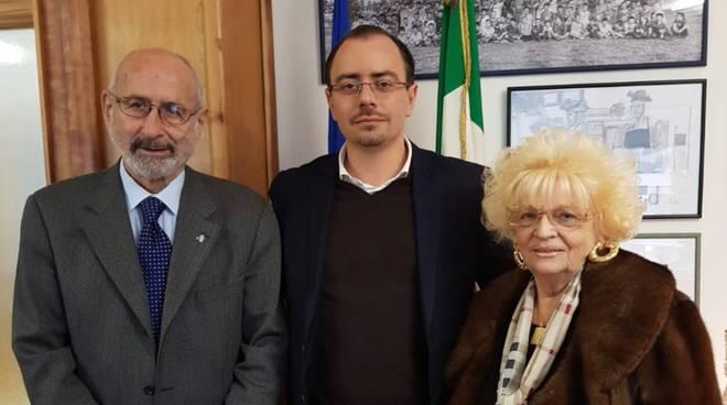 Rosanna Conti Cavini con sindaco Benini