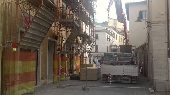 cantiere piazza San Michele