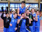 Follonica Basket Under 18 - esultanza Coppa Toscana