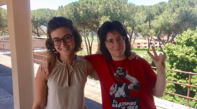 Elisa Bellumori e Chiara Pettini - servizio civile asl