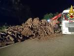 camion perde il carico