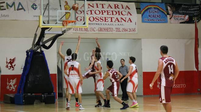 Gli Under 18 della Gea Basketball vs Arezzo