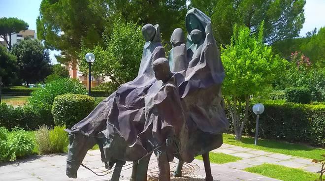 famiglia a cavallo - Antonio Lazari