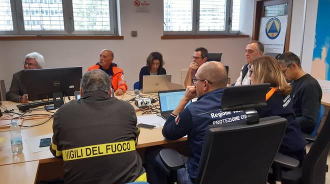 Sala operativa della Regione Toscana