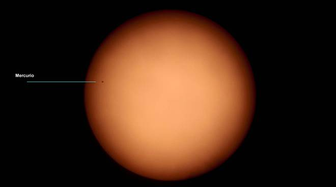 transito di mercurio sul sole nov 2019