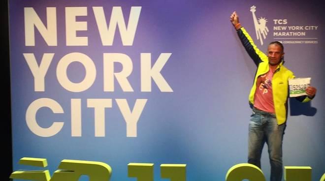 Umberto Ponticelli alla NY Marathon