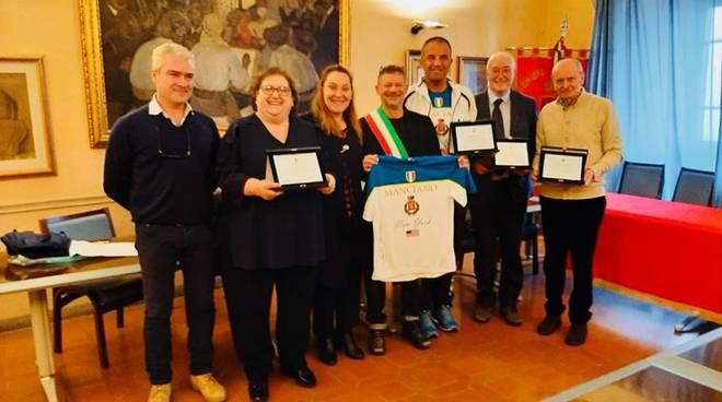 targhe merito 2019 - Umberto Ponticelli, Ettore Ponticelli, Valeria Piccini e Guido Avanzati