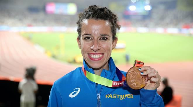 Eleonora Giorgi bronzo Mondiali Doha marcia