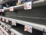 Supermercato svuotato