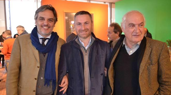 Attilio Tocchi, Guido Folonari e Alessandro Stassano