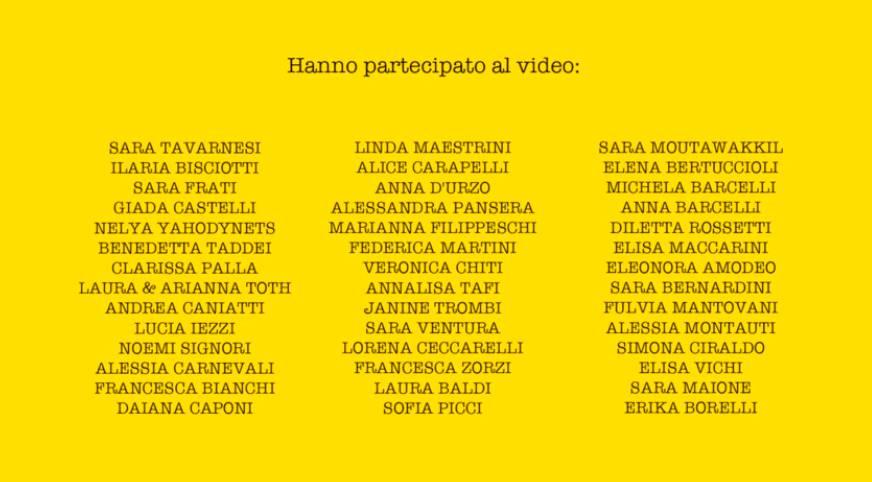 Happy (video reginette cartello nomi)