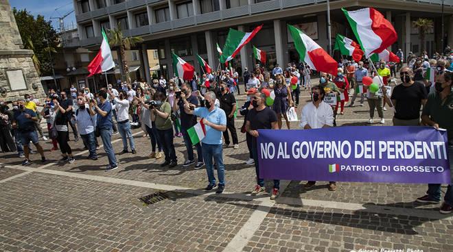 Manifestazione centrodestra giugno 2020