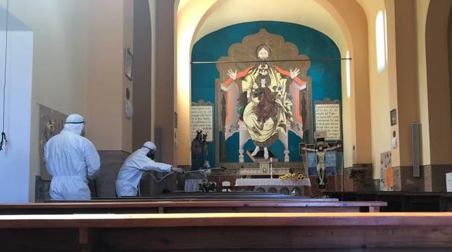 sanificazione chiesa santa maria ausiliatrice marrucheti