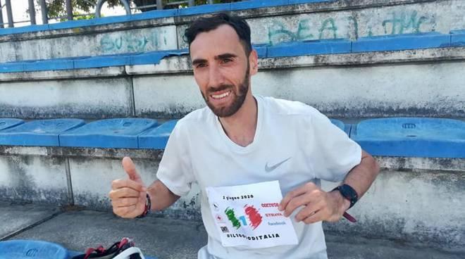 Stefano La Rosa gara virtuale 2 giu 2020 (da Facebook)