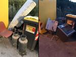 Abbandono rifiuti e parcheggio