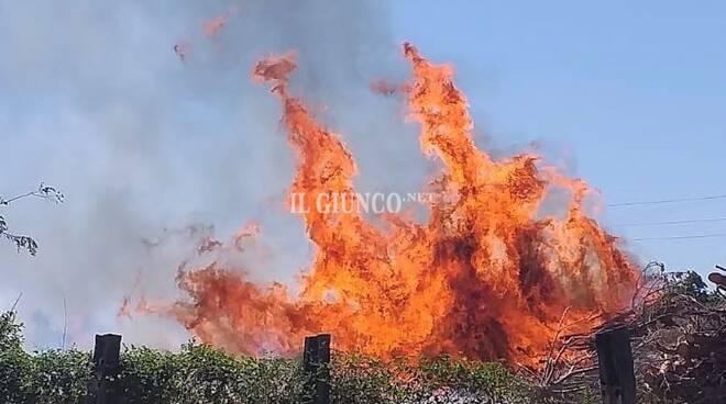 Incendio Casetta Papi
