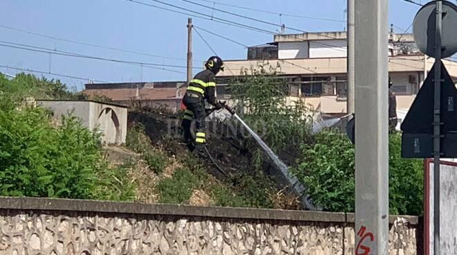 Incendio viale Sonnino 11 luglio 2020