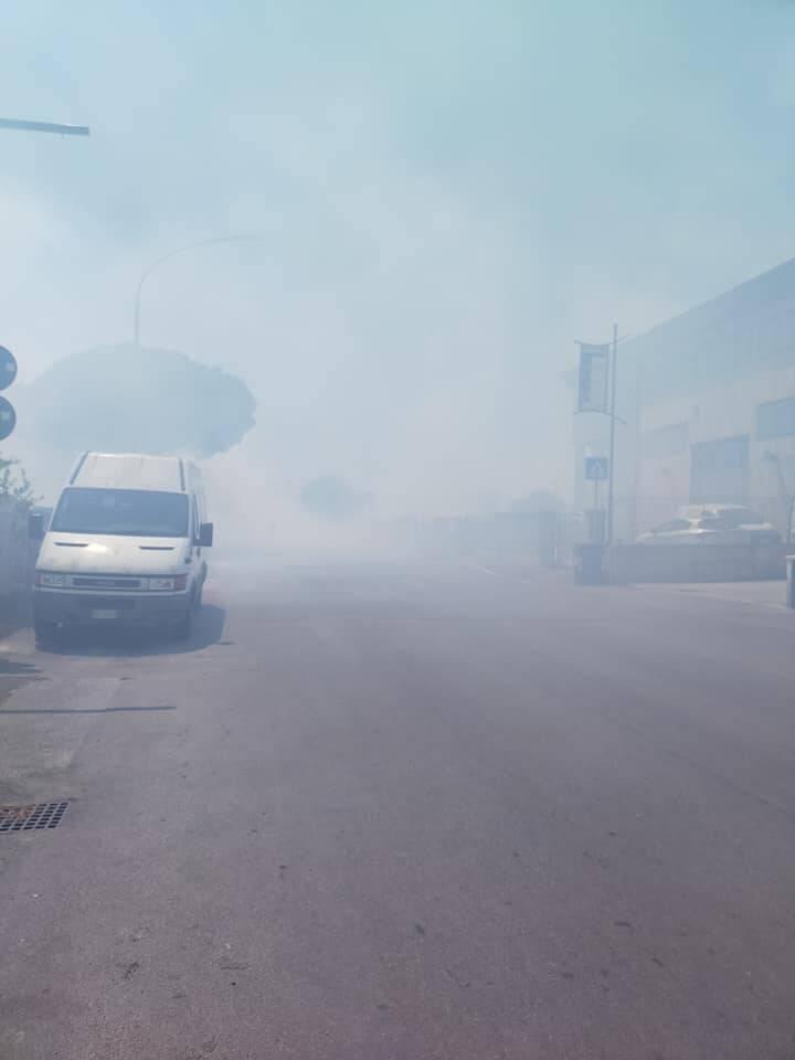 Incendio zona industriale luglio 2020